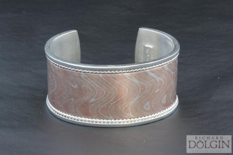 Mokume Gane Cuff Bracelet