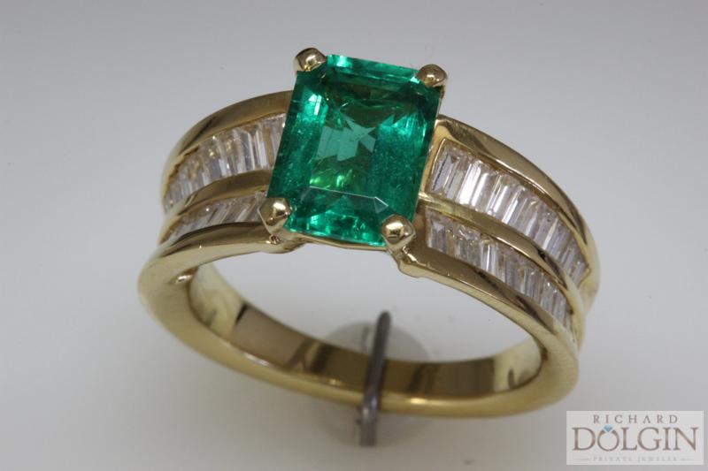 Gem Quality Emerald in 18k Gold