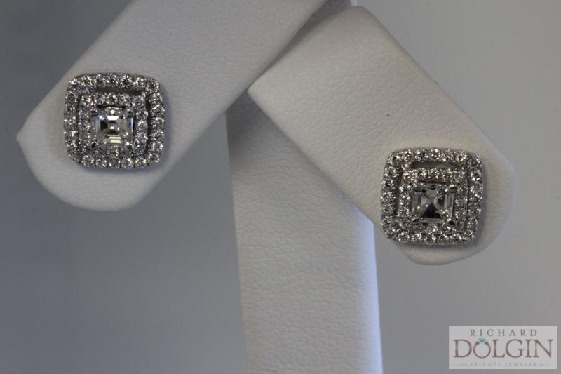 Diamond Earring Set in White Gold
