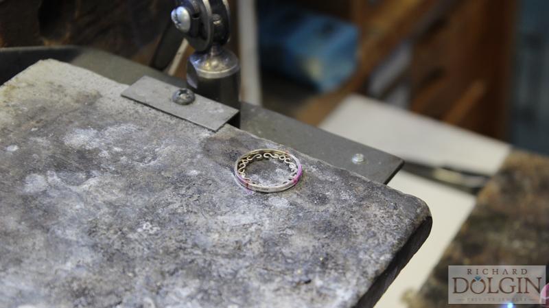 Hand making filigree