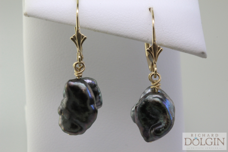 Tahitian Keshi Pearl Earrings