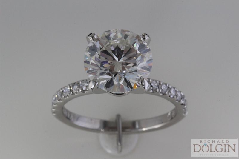 3 carat round diamond