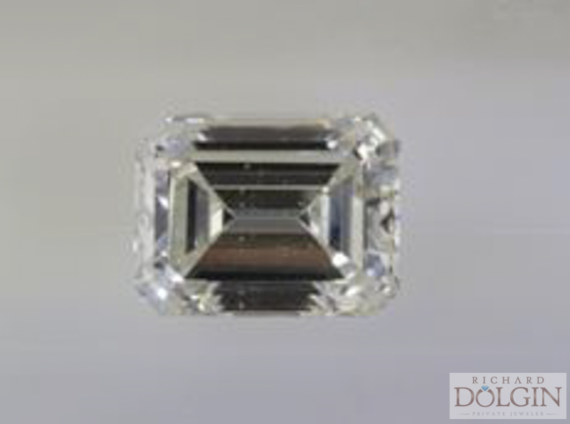 6.4 carat emerald cut diamond