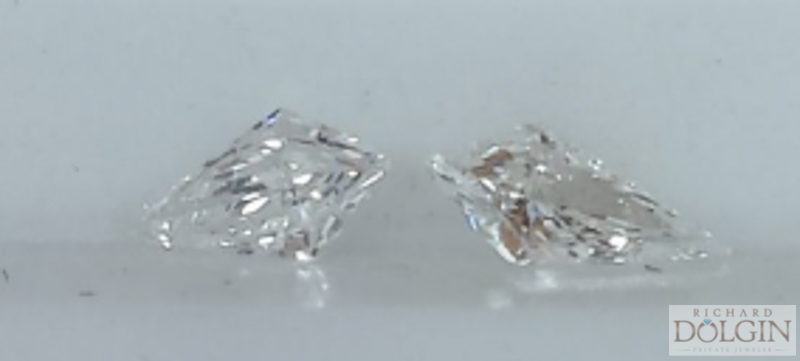 Kite shape diamonds