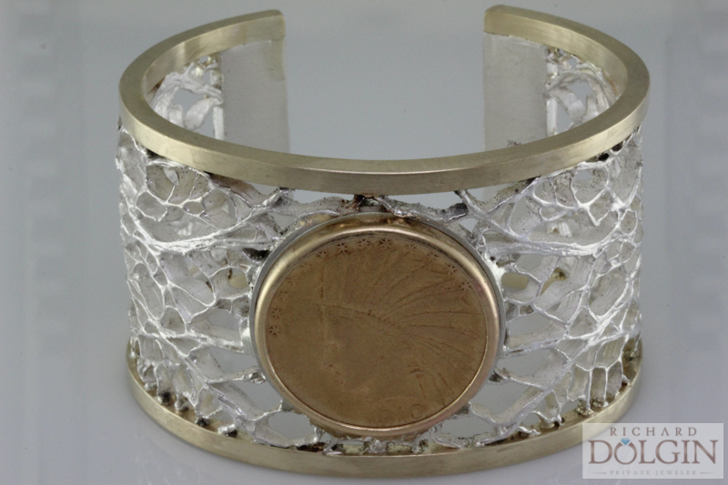 Gold and Silver Coin Bangle