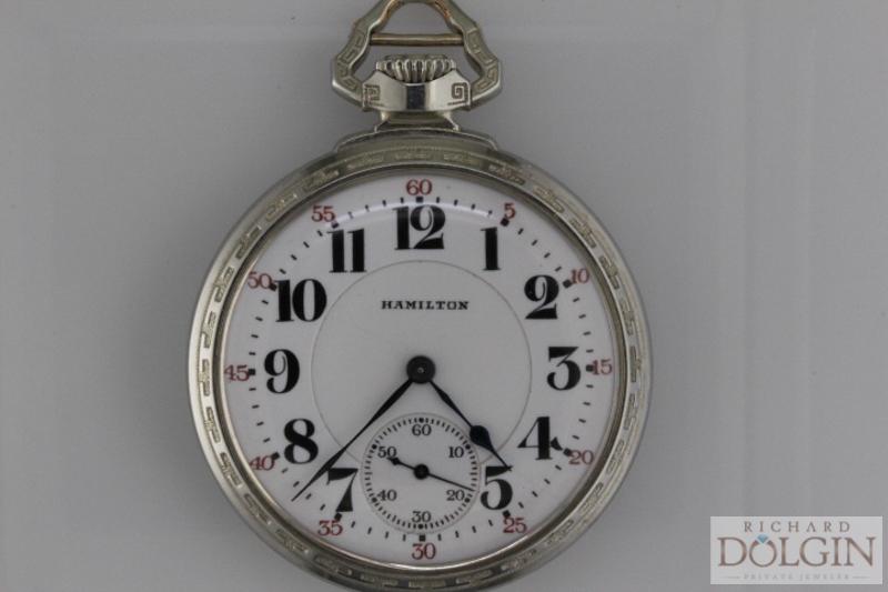 Silver Hamilton Pocket Watch