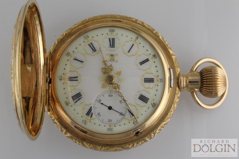 Ornate Face Waltham Pocket Watch