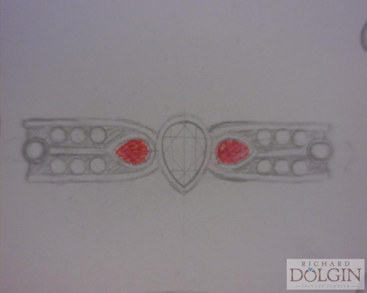Wedding ring sketch