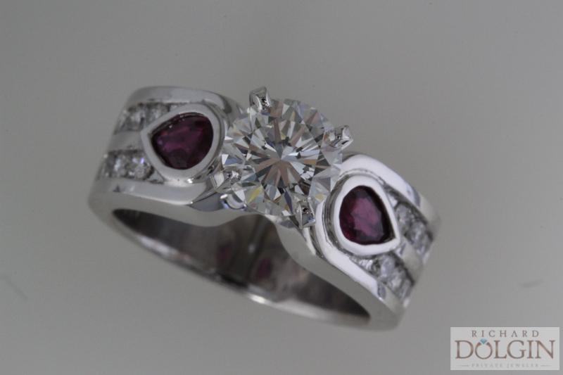 White gold and diamond wedding ring