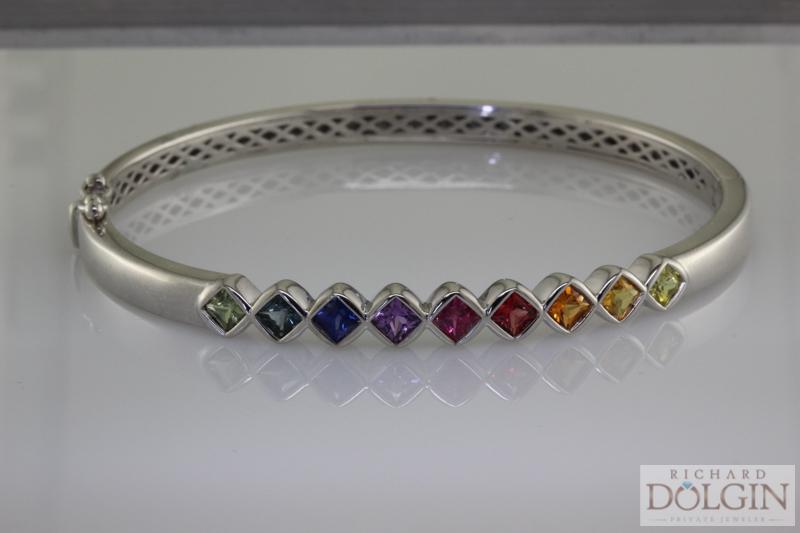 Every color sapphire bracelet
