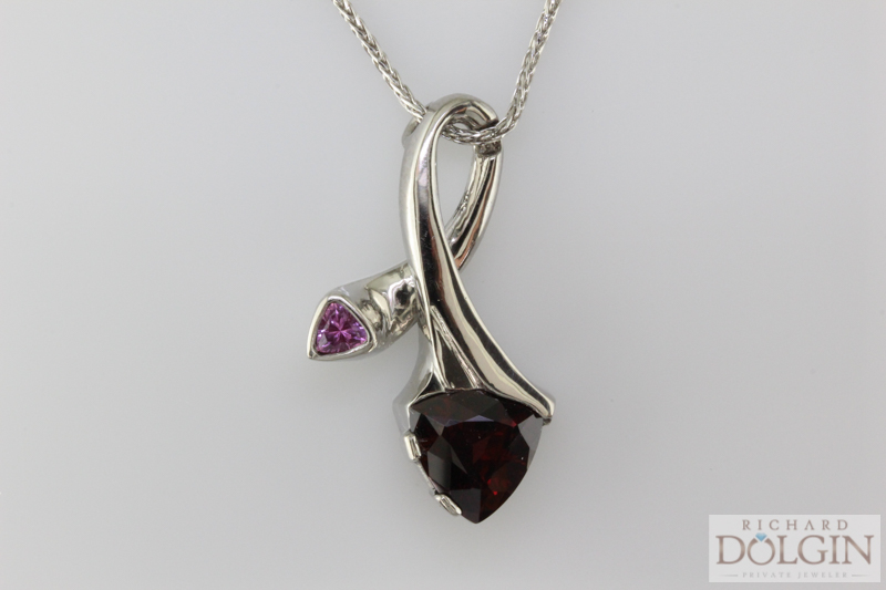 Pink tourmaline and pink sapphire necklace