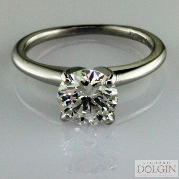 Round Brilliant Diamond in White Gold Solitaire