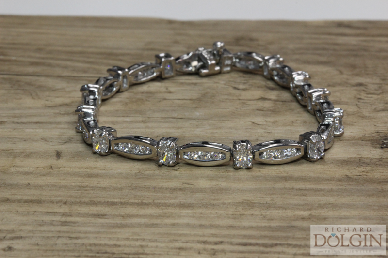 Estate Platinum Diamond Bracelet