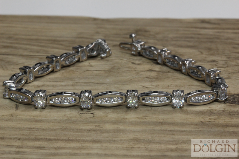 Antique platinum and diamond bracelet