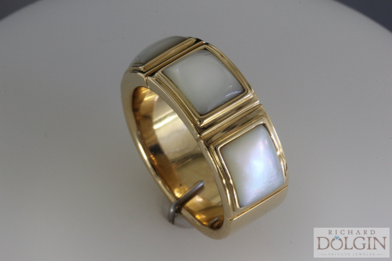 Inlaid Mother of Pearl Ring
