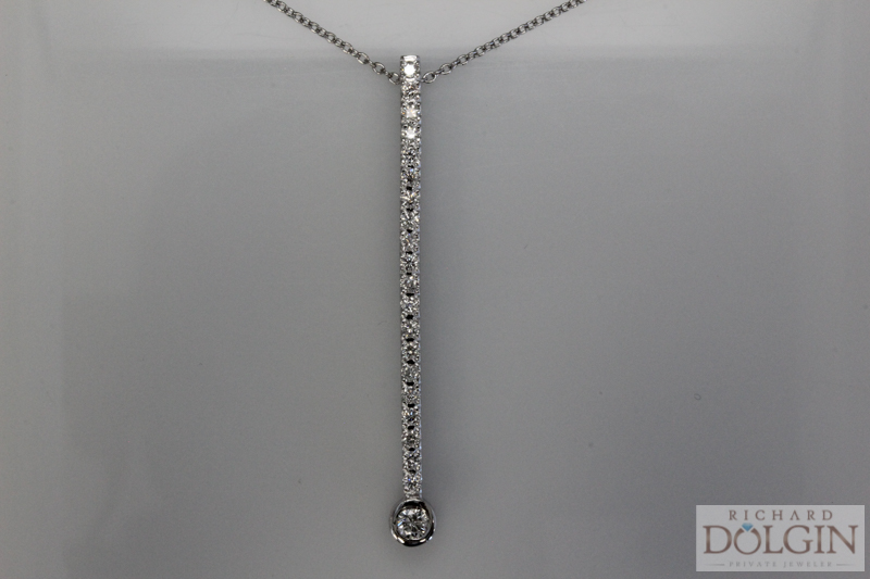 Diamond stick pendant