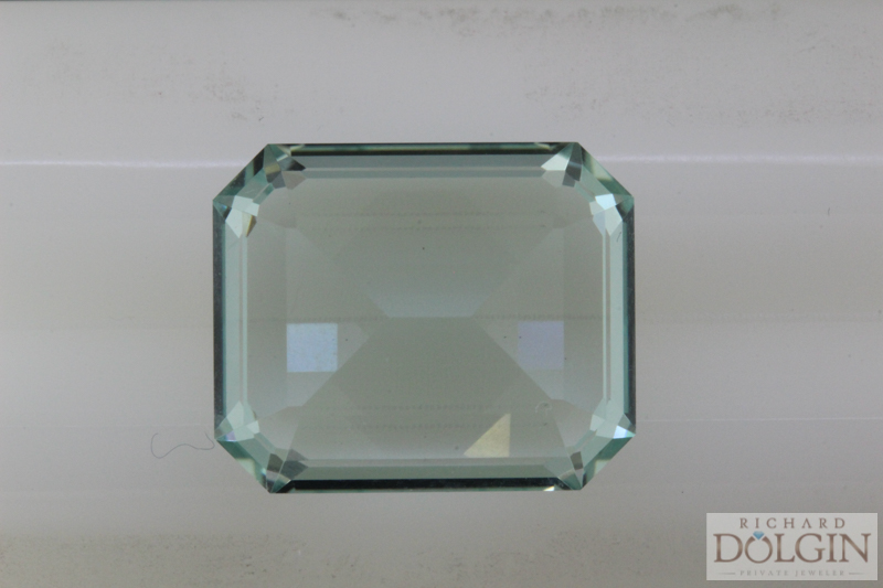 Re-cut and polished aquamarine