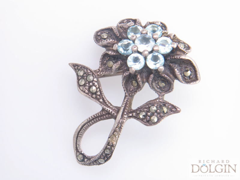 Antique flower pin