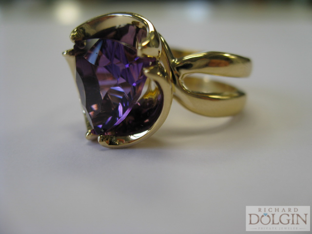 Amethyst ring inspired by Violets