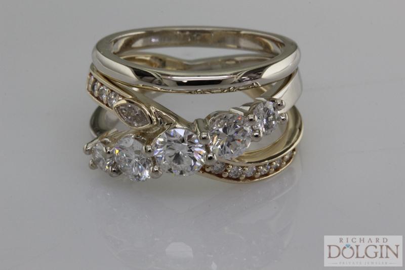 Custom ring using diamonds from the past