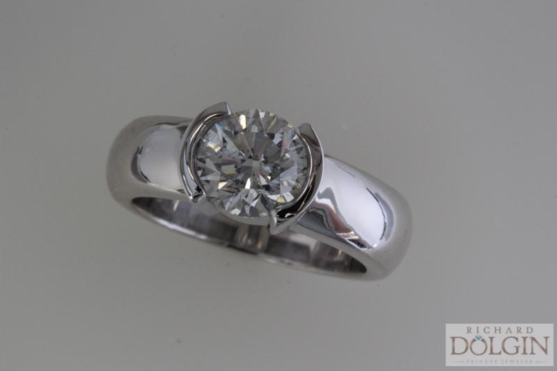 Bezel set diamond