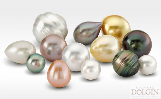 Variety of pearl colors