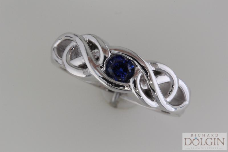 Custom made sapphire band
