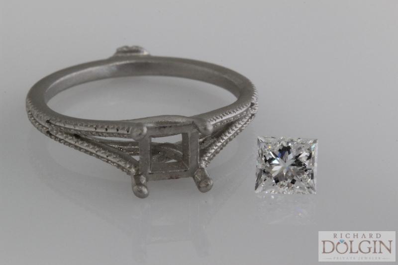 Rough casting and center diamond