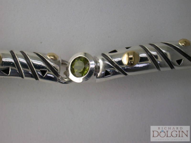 Peridot bracelet by John Atencio