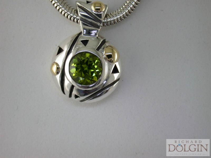 Peridot pendant by John Atencio