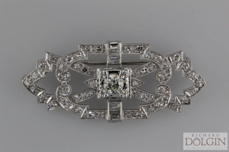 Antique platinum pin