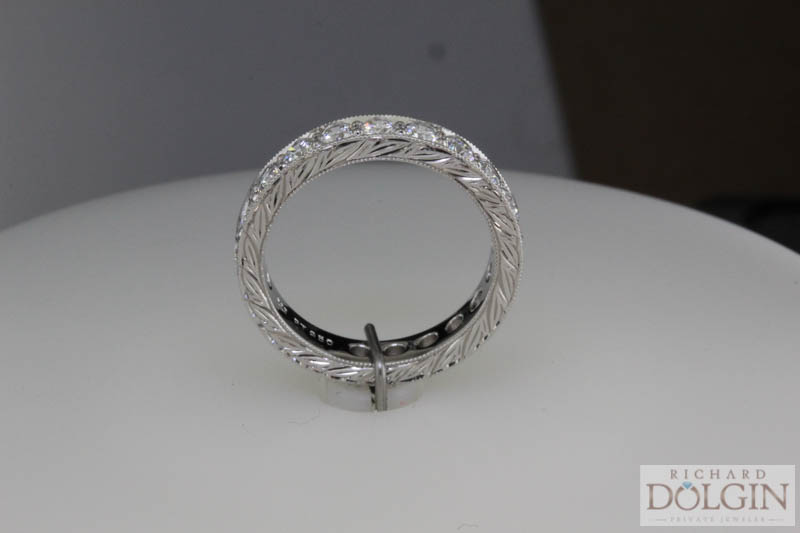 Side view - Platinum eternity band