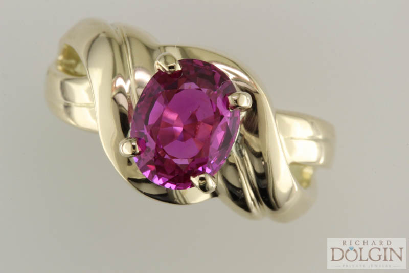 Pink Sapphire Custom Made Ring