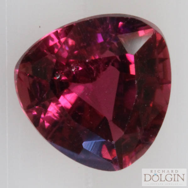 Pink tourmaline, trillion cut 1.33 carat