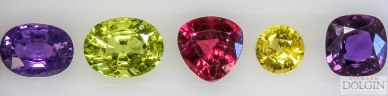 My newest purchases. Color gemstone collection.