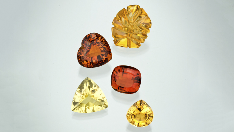 Various colors of Citrine