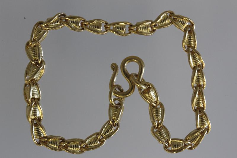 22k gold handmade bracelet
