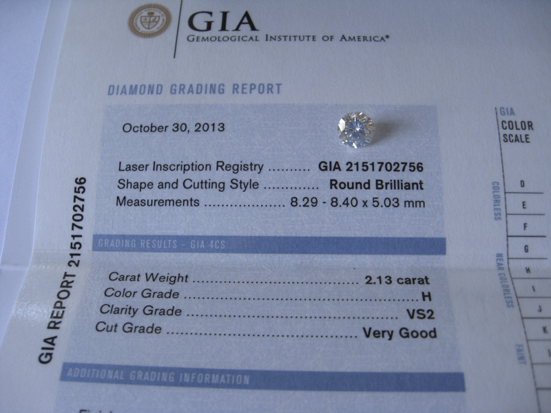 GIA certified diamond