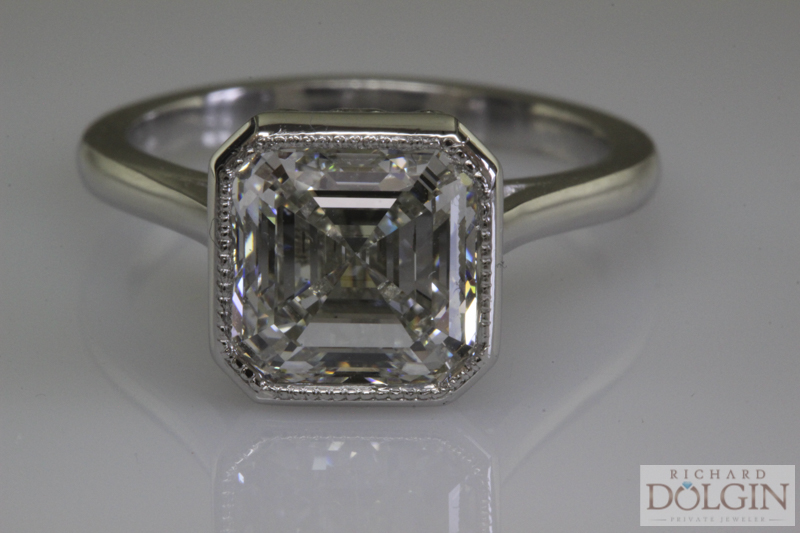 Ascher Cut Diamond Solitaire