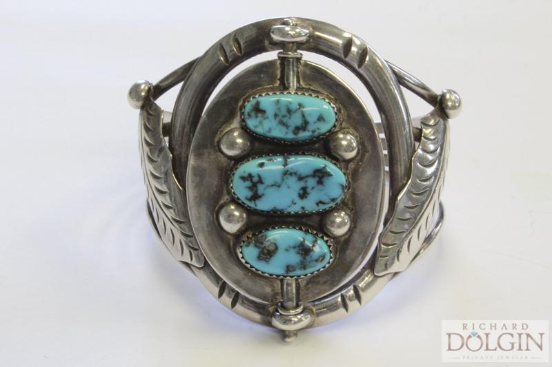 Turquoise reversible Southwestern bracelet