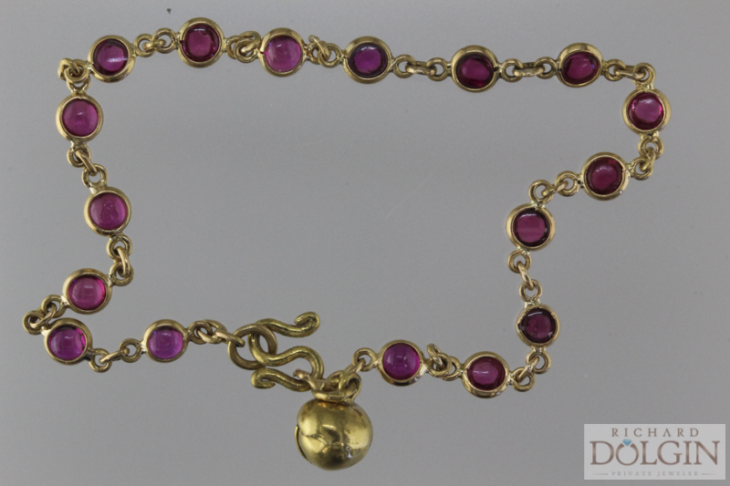 Ruby and 22k antique bracelet
