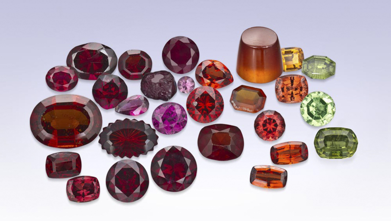 Garnets in many colors.