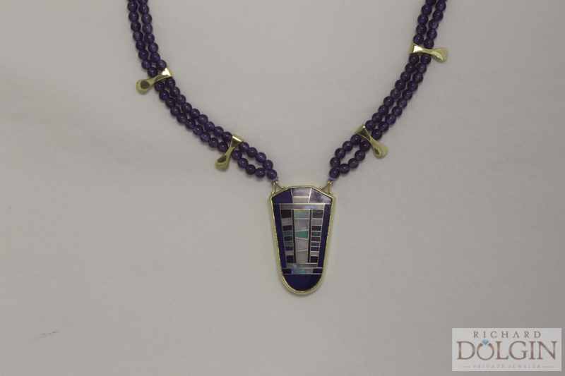 Fabulous Intarsia Necklace