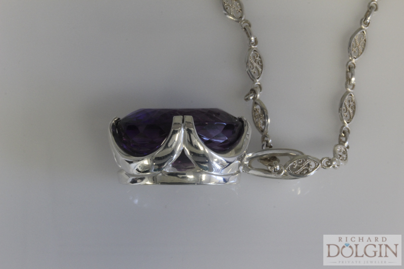 Amethyst Pendant - Side View