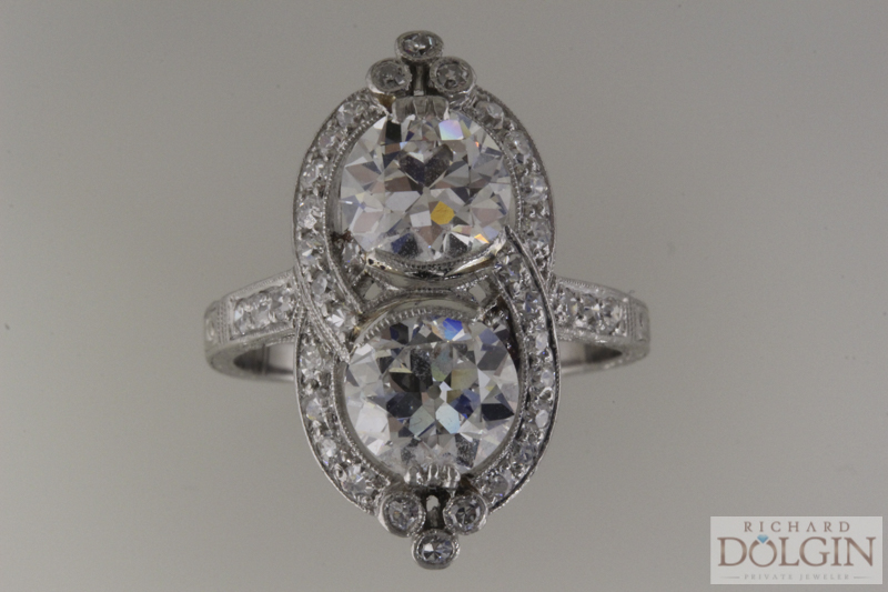 Fabulous platinum antique ring