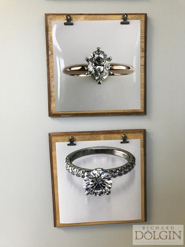 Frames showcasing our jewelry pieces