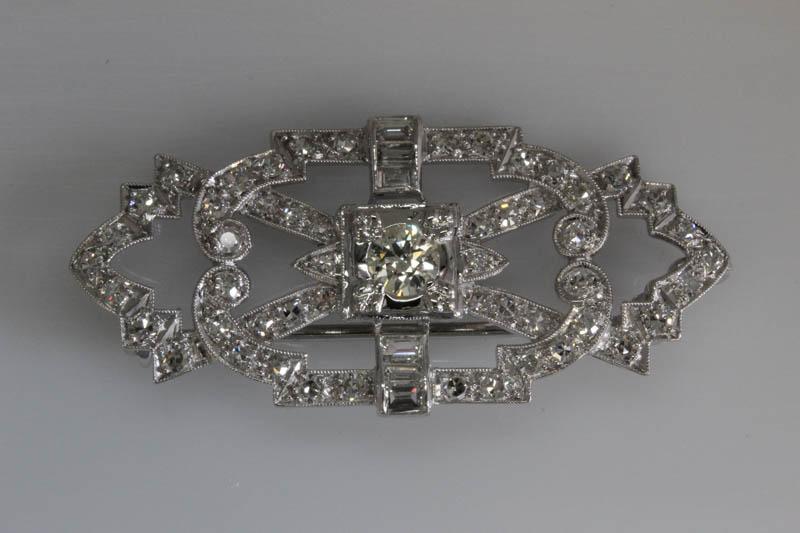 Antique platinum pin