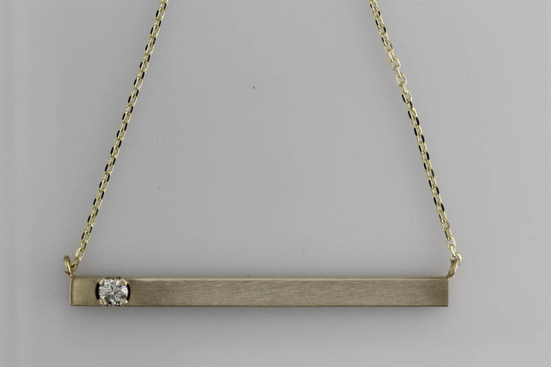 Bar Pendant Using Diamonds From the Past