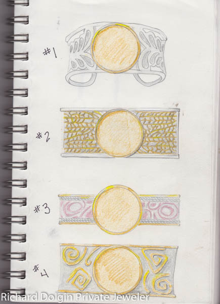 Sketch of original bracelet ideas