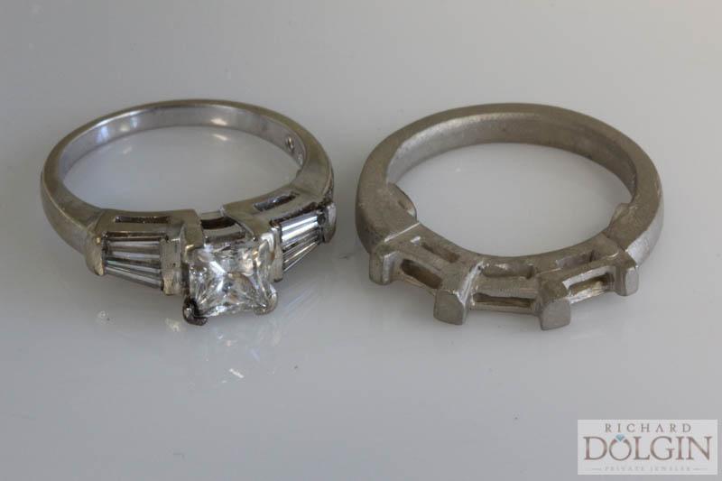 Matching diamond band